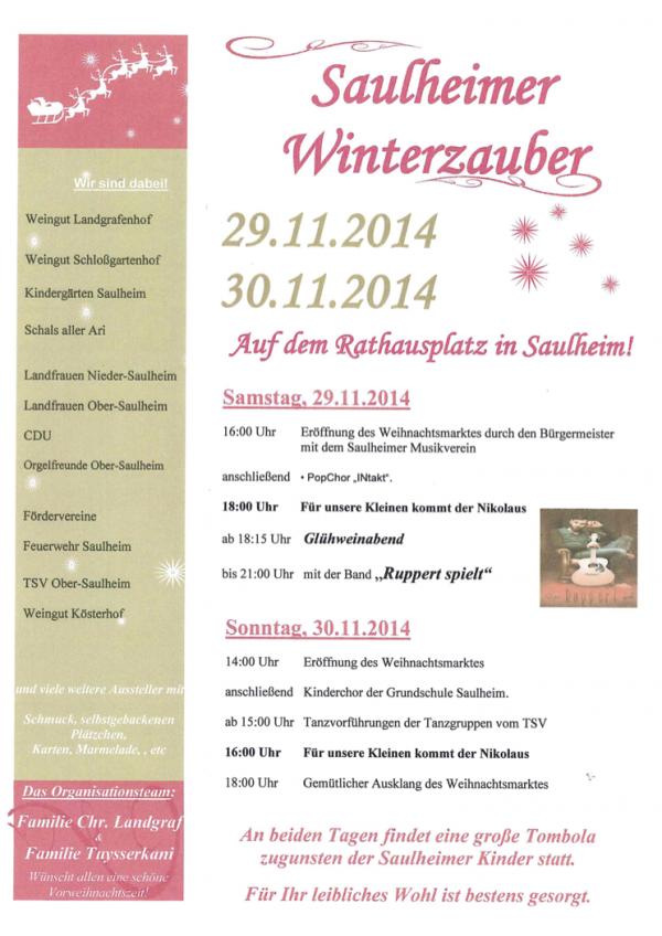 Saulheimer Winterzauber