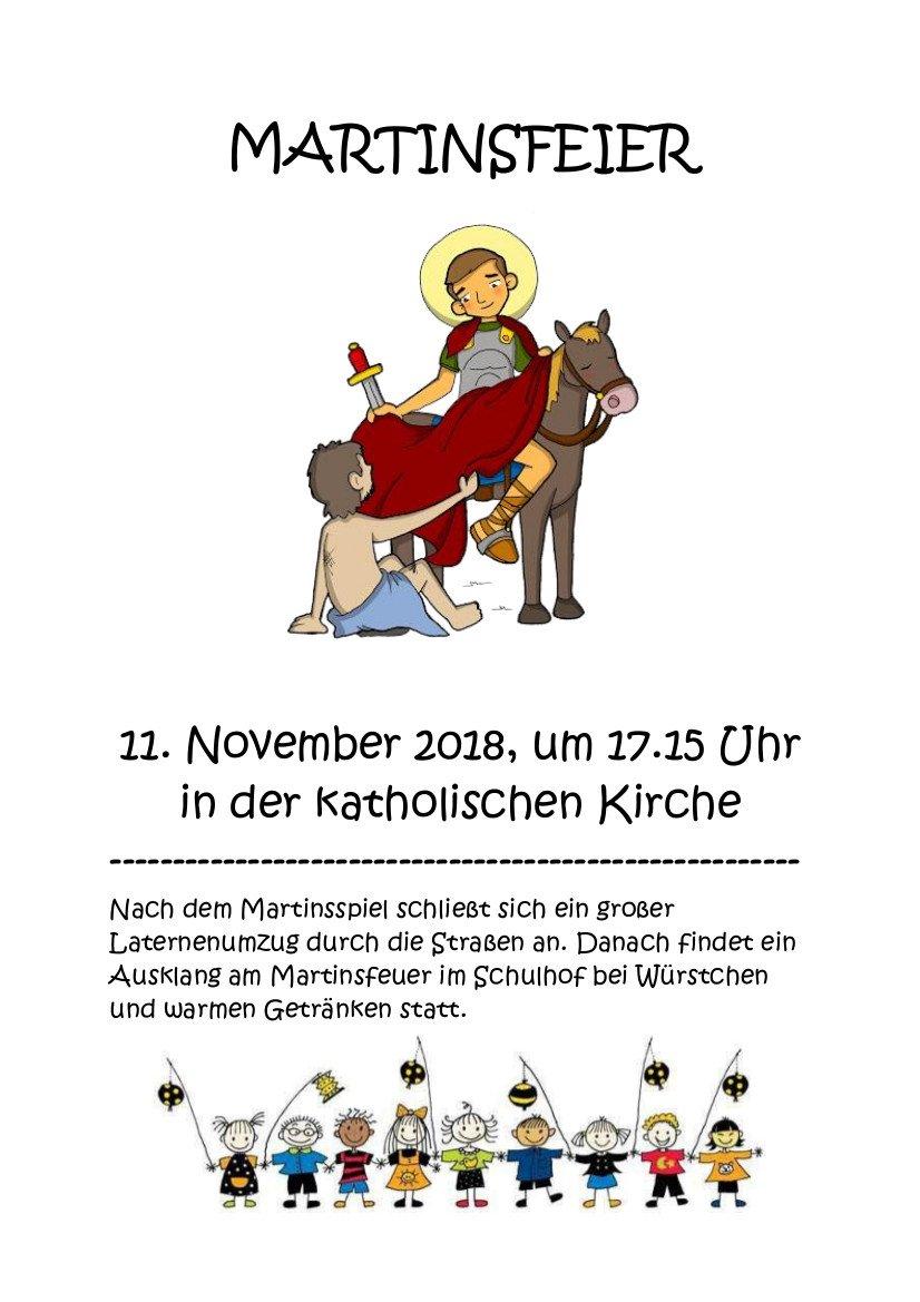 Martinsfeier & Laternenumzug @ kath. Kirche Nieder-Saulheim