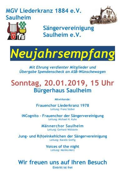 Neujahrsempfang @ Bürgerhaus