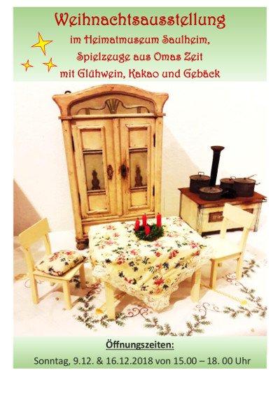 Weihnachtsausstellung im Heimatmuseum @ Heimatmuseum