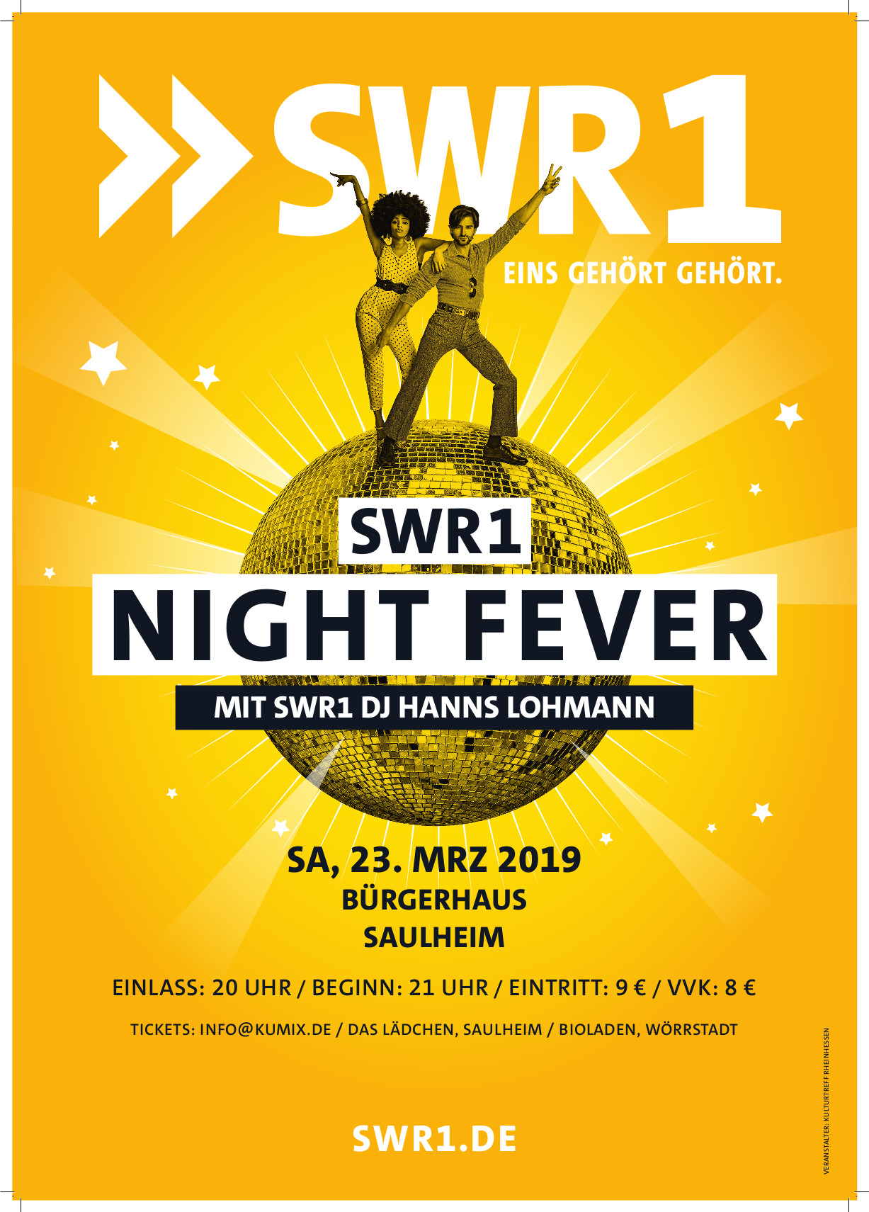 SWR1 Night Fever Party @ Bürgerhaus
