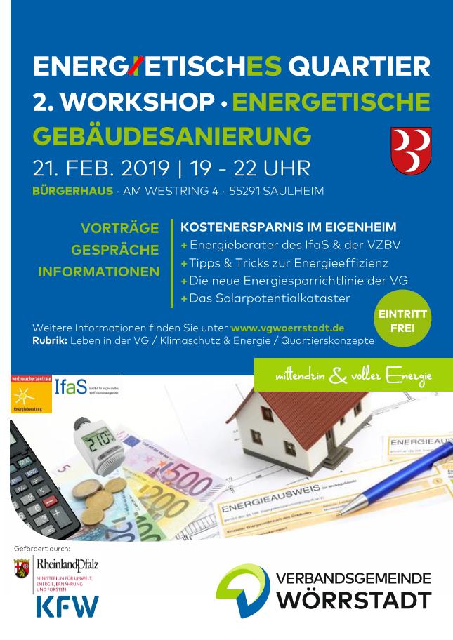 """Workshop """"Energetische Gebäudesanierung"""" @ Bürgerhaus, Am Westring 4"""