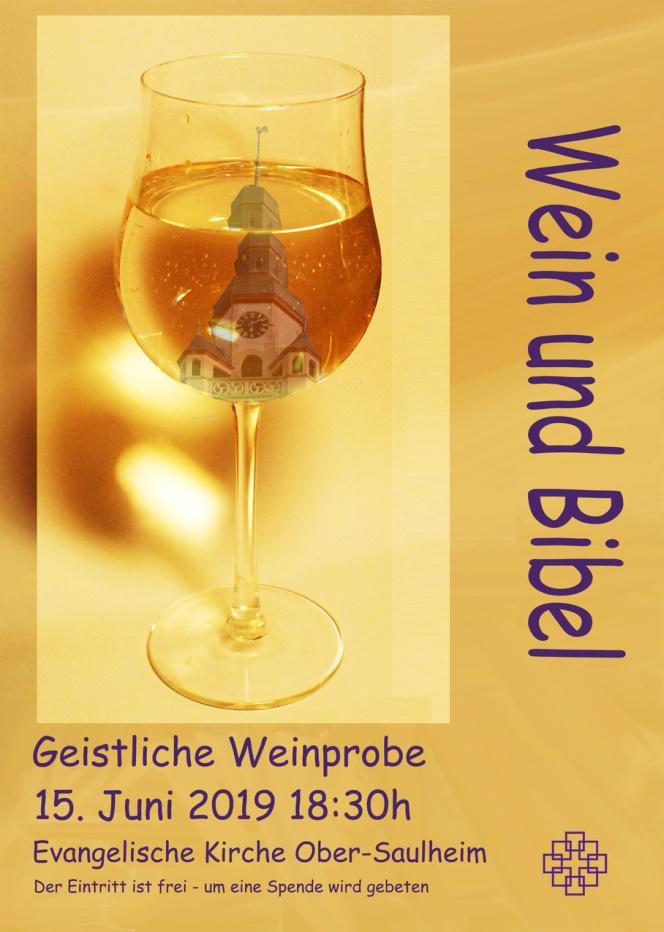 Geistliche Weinprobe @ Ev.Kirche Ober-Saulheim