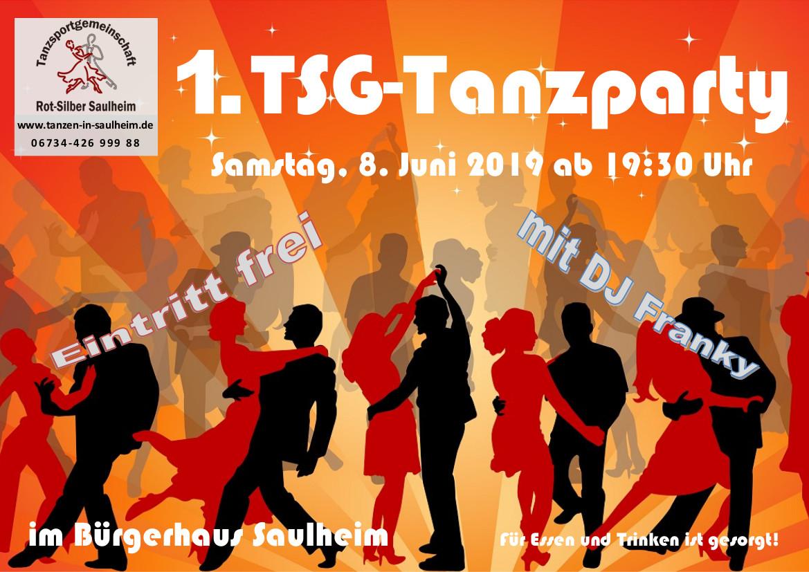 Tanzparty der TSG Rot-Silber Saulheim u.U. @ Bürgerhaus