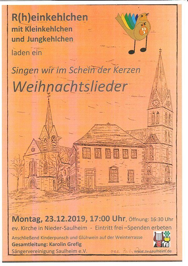 Singen wir im Schein der Kerzen! - Einlass 16:30 @ Ev.Kirche Nieder-Saulheim