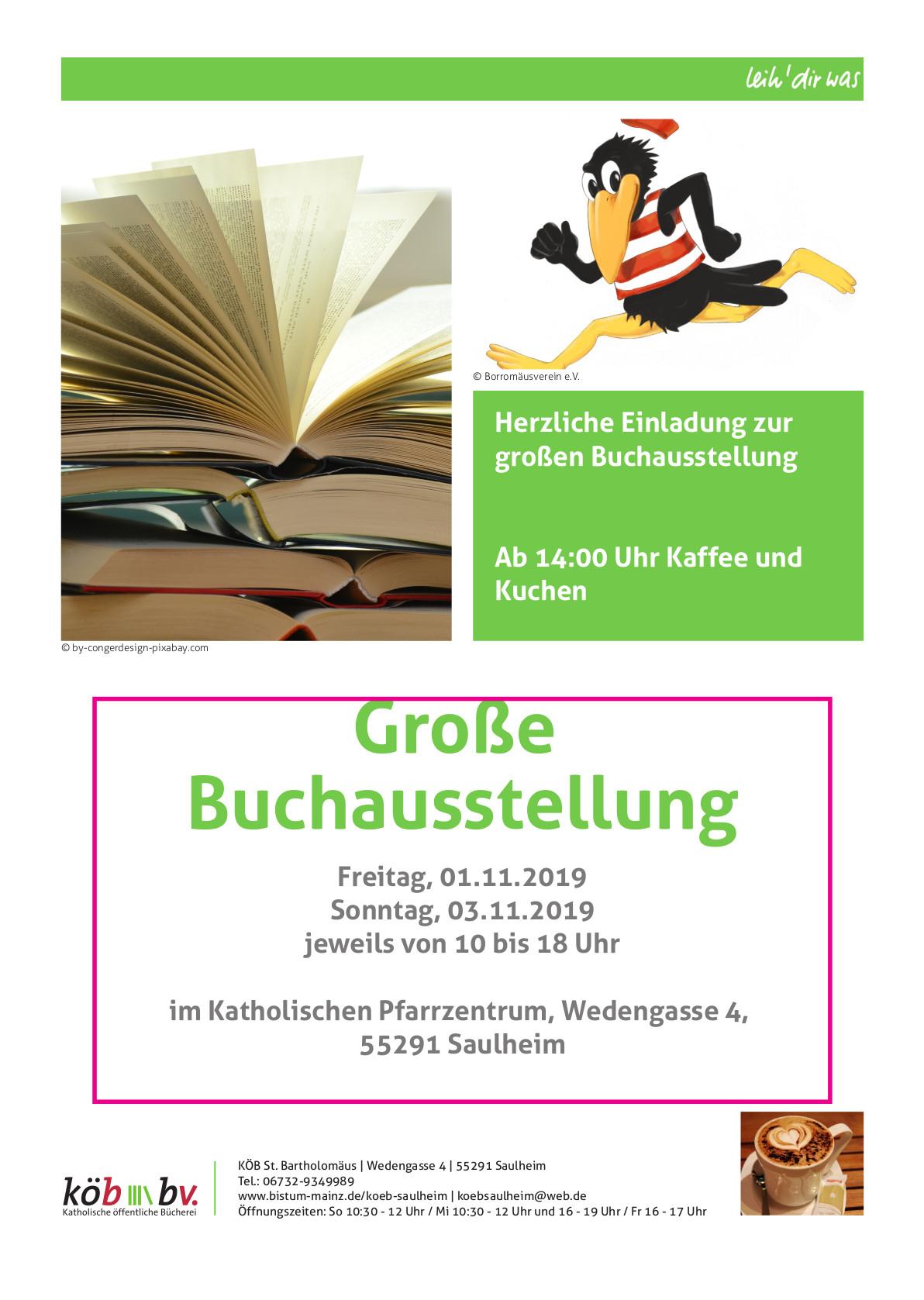 Große Buchausstellung @ Katholisches Pfarrzentrum